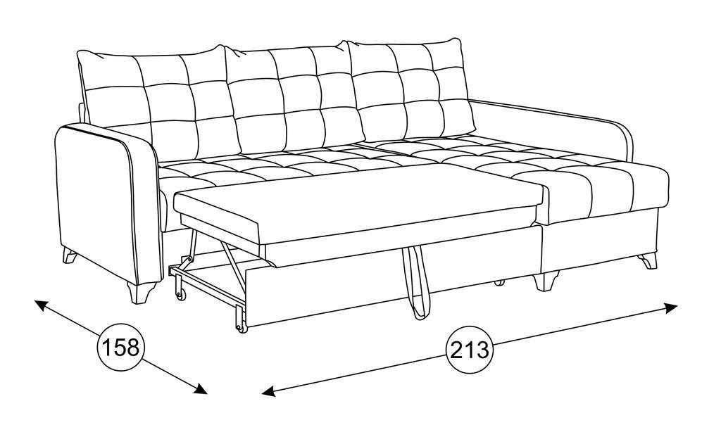 Диваны Квадро: Угловой диван-кровать Квадро ТД 964 в Диван Плюс