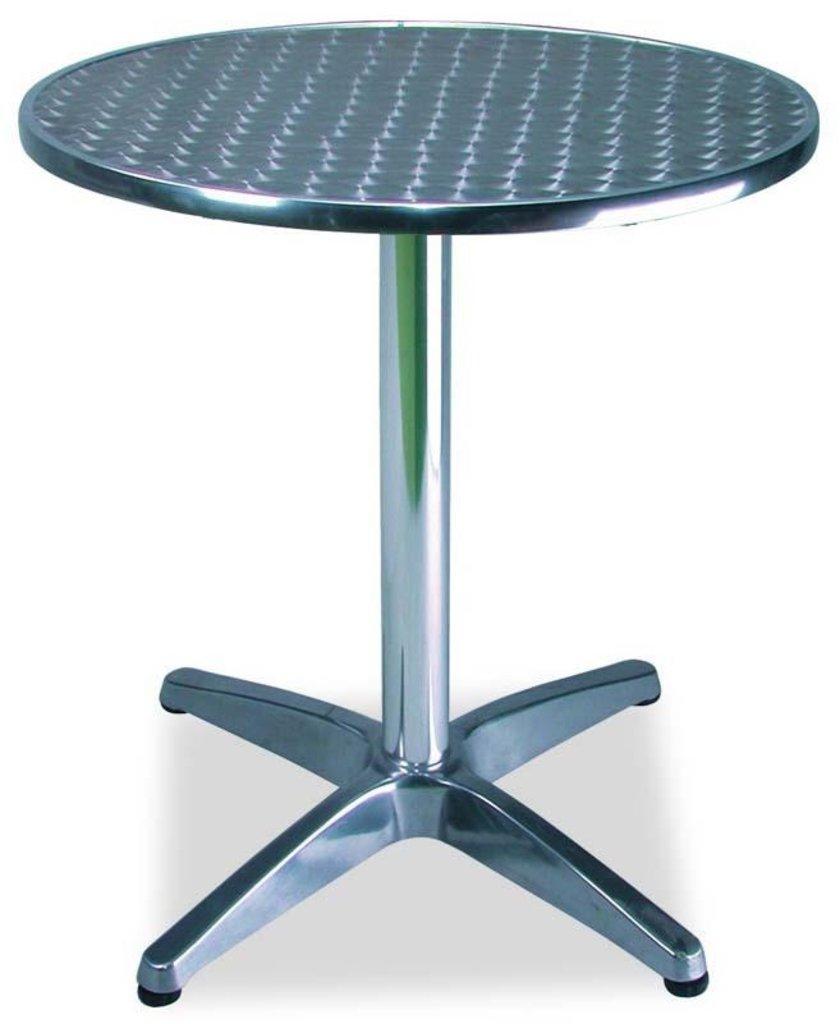 Столы для летних кафе, ресторанов.: Стол алюминиевый D-600 мм. 1201DP (регулируемый по высоте) в АРТ-МЕБЕЛЬ НН