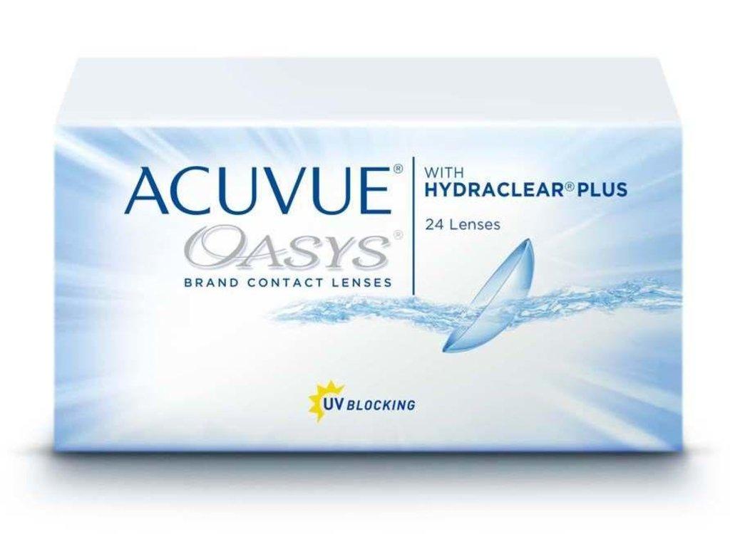 Контактные линзы: Контактные линзы Acuvue Oasys With Hydraclear Plus (24шт / 8.4) Johnson & Johnson в Лорнет
