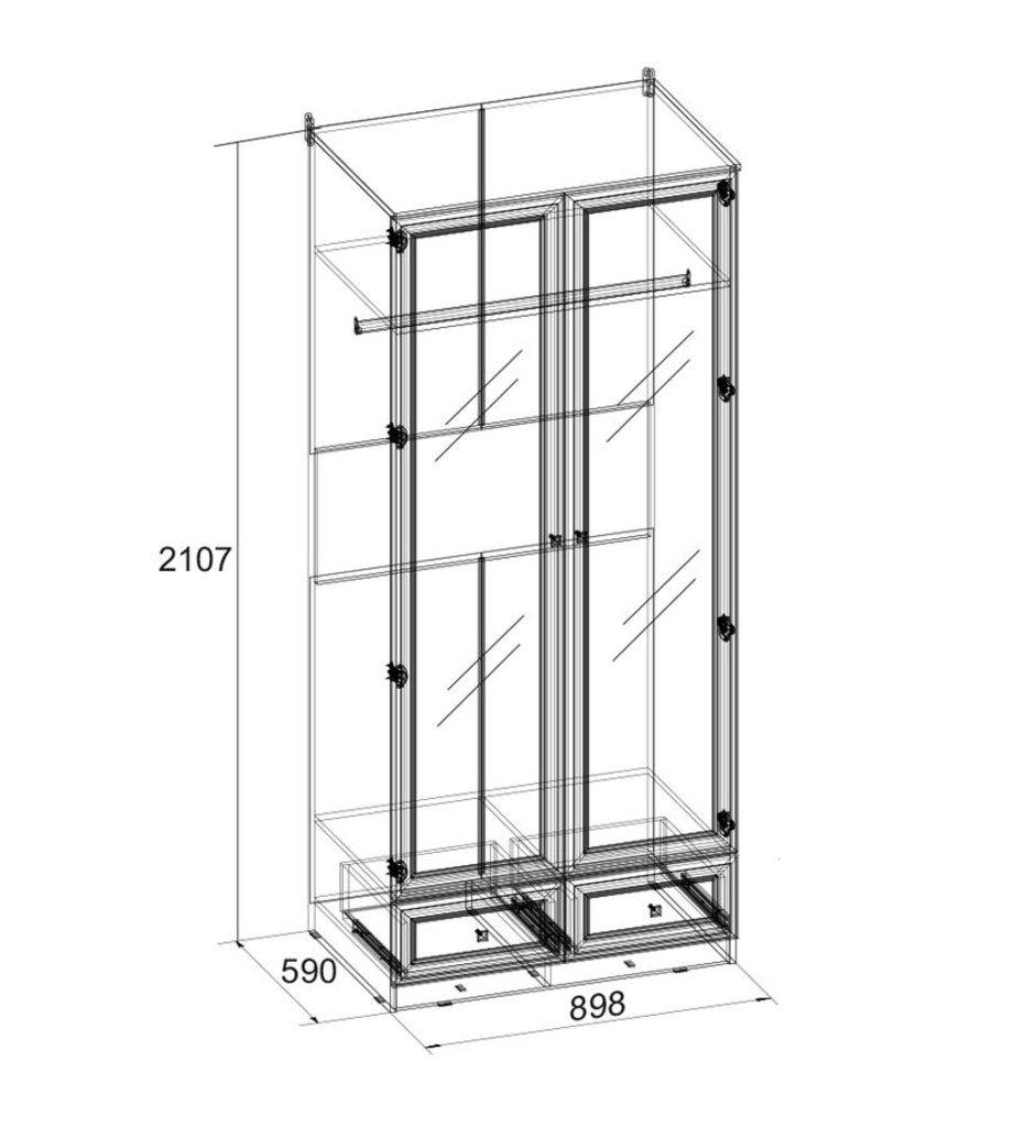 Шкафы для прихожих: Шкаф для одежды и белья PAOLA 73 (Зеркало) в Стильная мебель