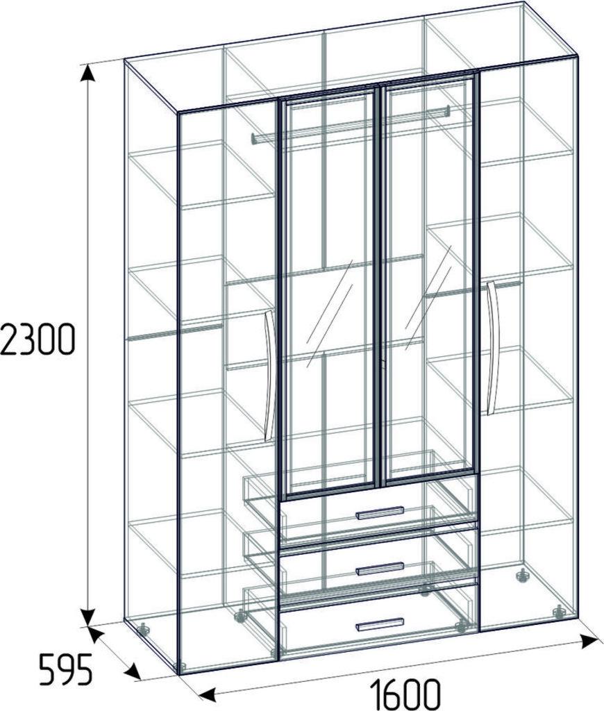 Шкафы для одежды и белья: Шкаф для одежды и белья Nature 555 в Стильная мебель
