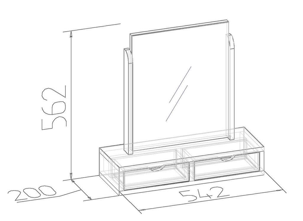 Мебель для спален, общее: Трюмо с ящиками Sherlock 55 в Стильная мебель