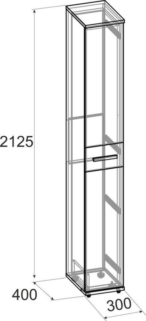 Шкафы, общие: Шкаф для обуви Норвуд 73 в Стильная мебель