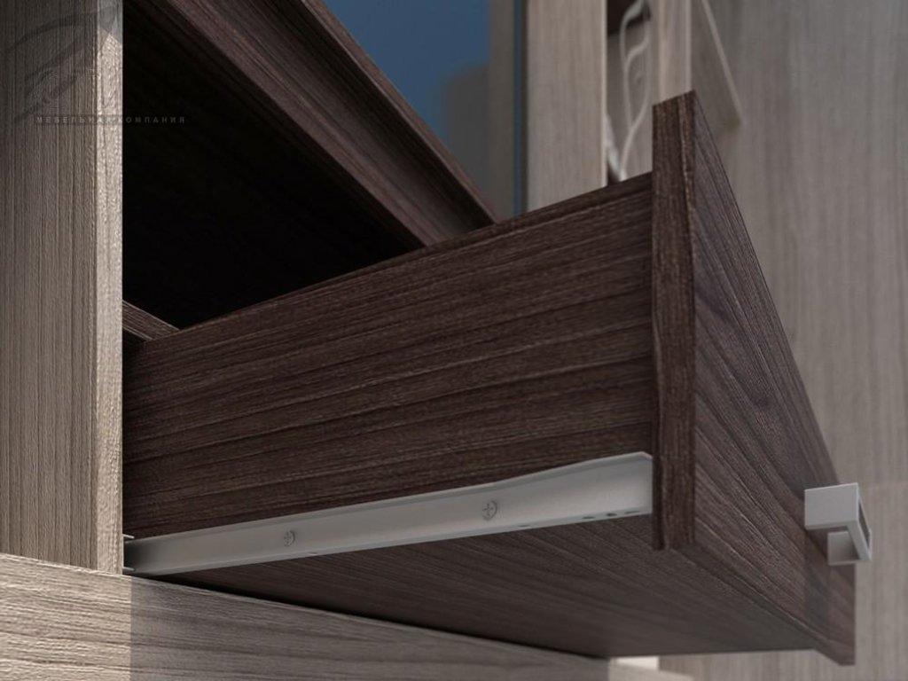 Гостиные: Мебель для гостиной Атлантида-2Б (шимо темный / шимо светлый) в Диван Плюс