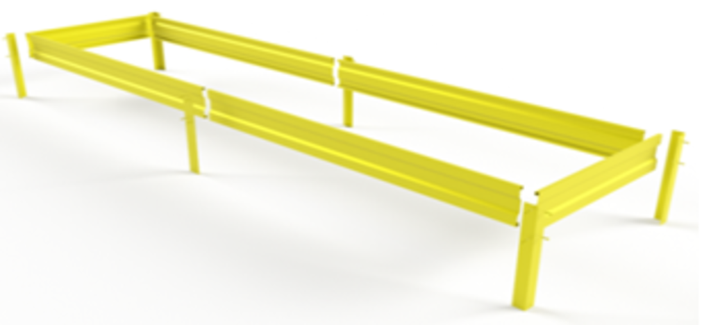 Полосы для гряд: Металлическая гряда 1м*6м в БазаАКБ