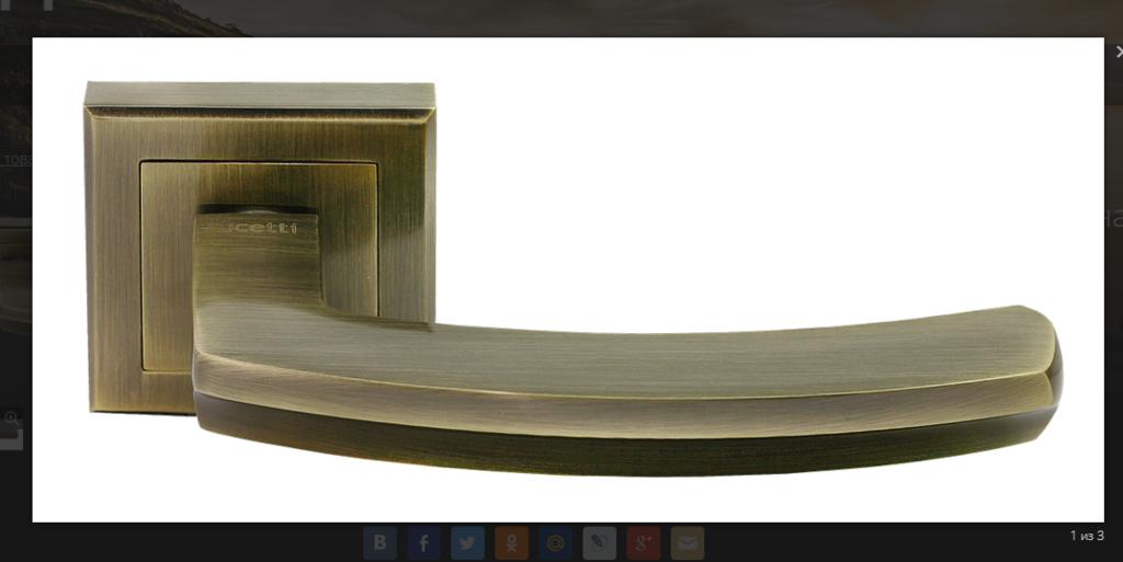 Ручки: Ручка Ручетти RAP-11-S AB в Двери в Тюмени, межкомнатные двери, входные двери