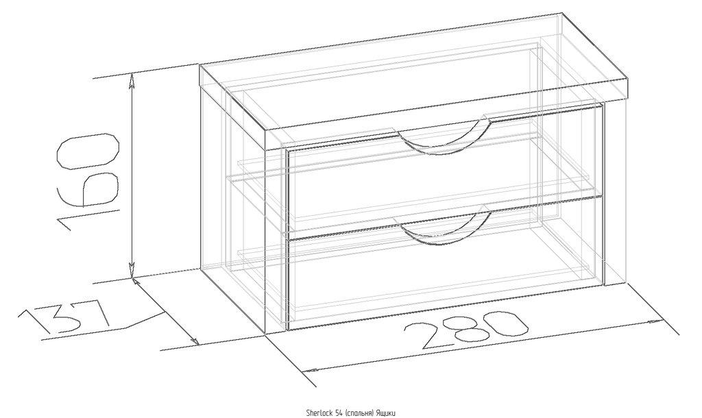 Мебель для спален, общее: Ящики Sherlock 54 в Стильная мебель