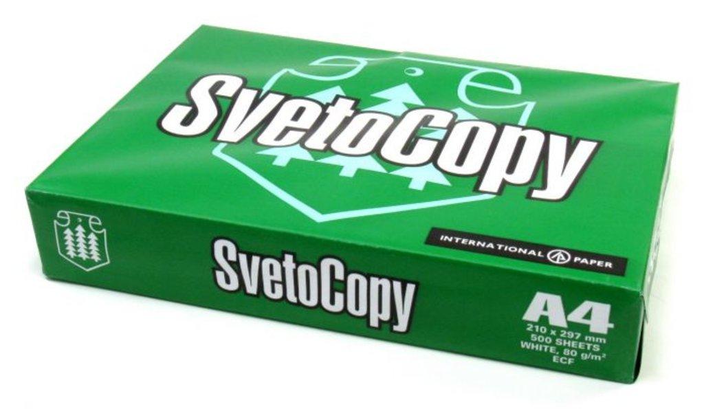 Канцтовары: Бумага SvetoCopy (А4, 80 г/кв.м, 500 листов) в ОргСервис+