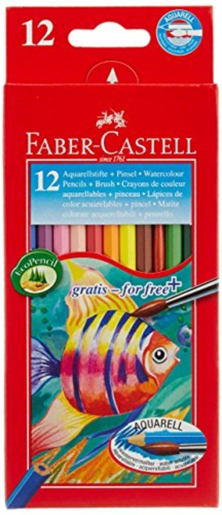 Акварельные карандаши: Набор акварельных карандашей  Faber-Castell Color Pencils с кисточкой 12цв. в Шедевр, художественный салон