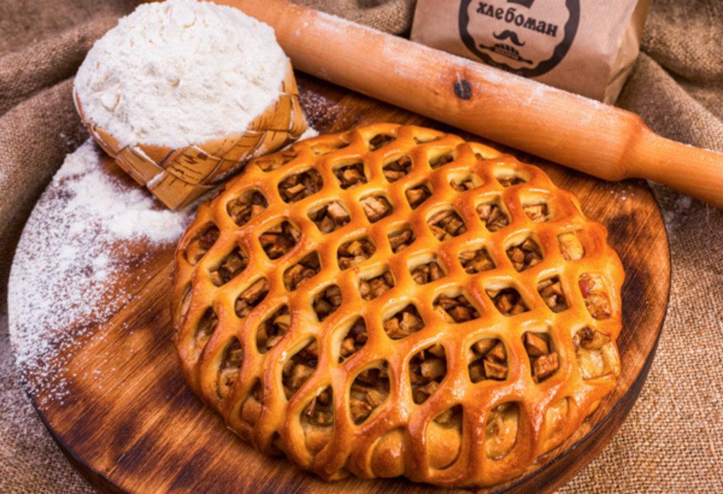 Сладкие пироги: Пирог  с грушей, яблоком,мёдом и корицей в Хлебоман