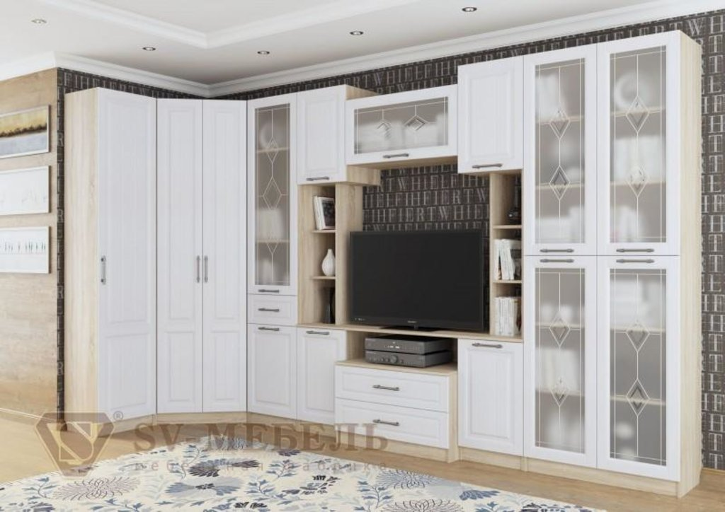 Мебель для гостиной Прованс-1: Шкаф угловой Прованс-1 в Диван Плюс