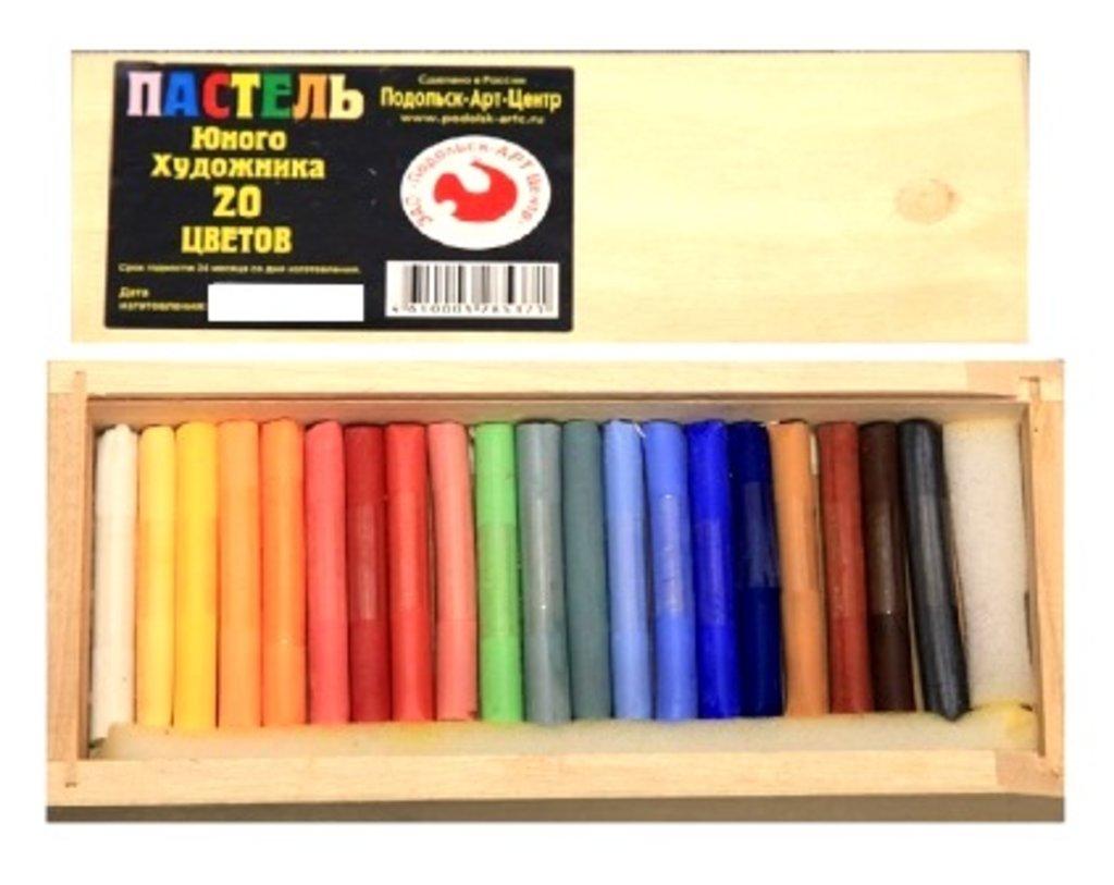 Сухая пастель: Пастель для юного художника в деревянном пенале 20 цветов в Шедевр, художественный салон