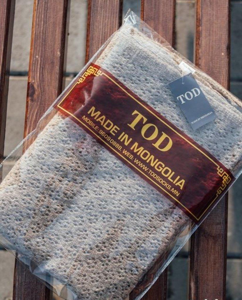 Головные уборы. Палантины: Палантин вязаный из монгольской шерсти серый в Сельский магазин
