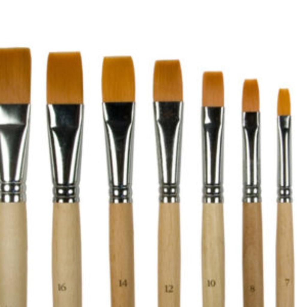 плоская: Кисть синтетика плоская, длинная ручка №14 в Шедевр, художественный салон