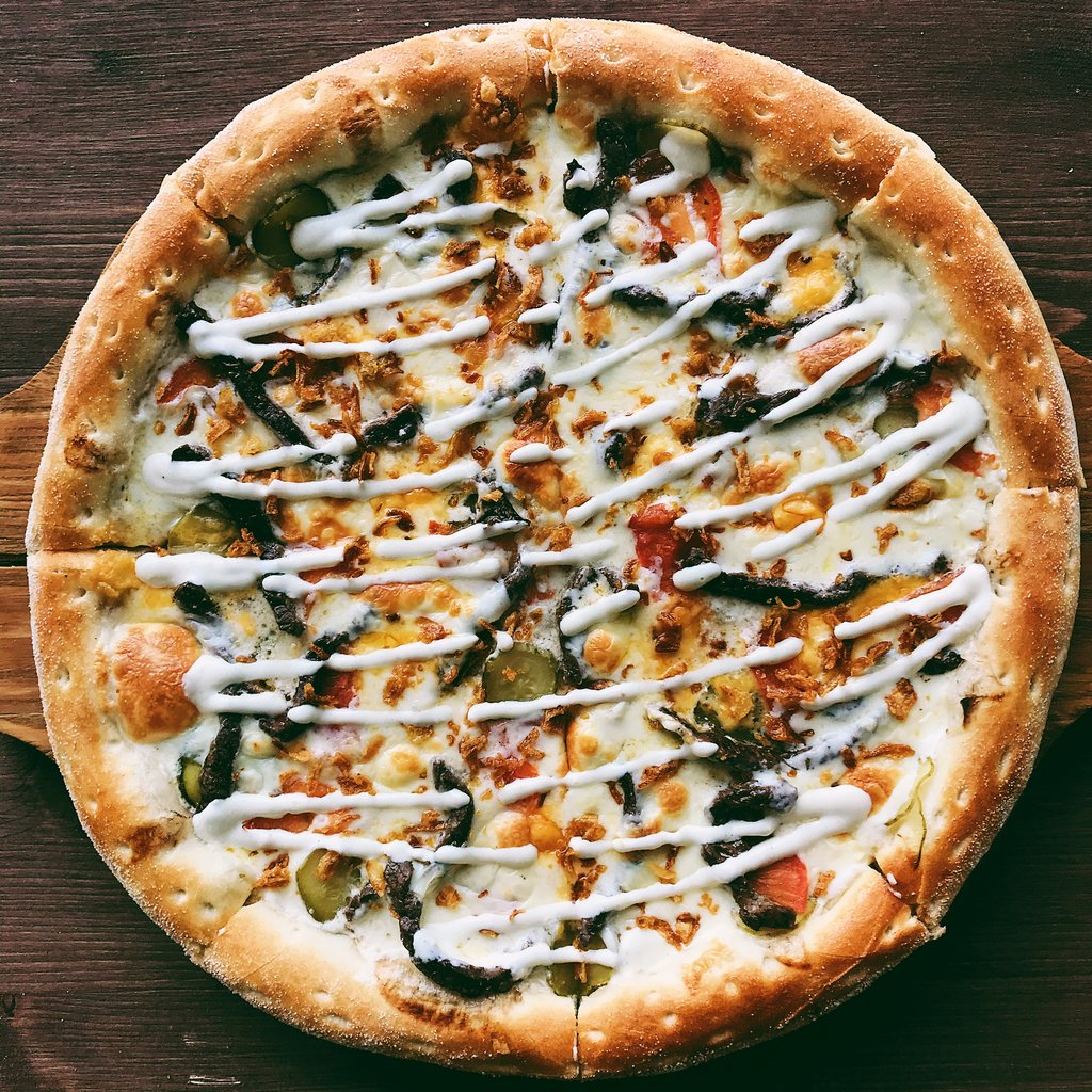 Пицца: Чизбургер-пицца в Пиццуля Кемерово