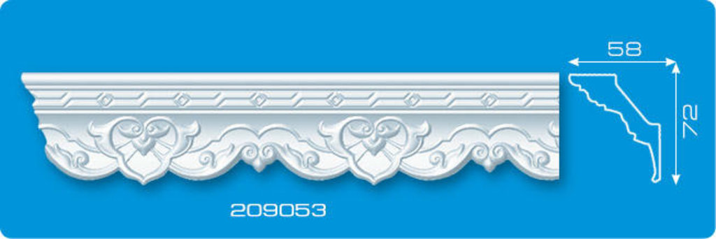 Плинтуса потолочные: Плинтус потолочный ФОРМАТ 209053 инжекционный длина 2м в Мир Потолков
