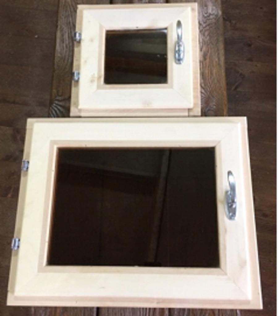 Окна: Окно банное ЛИПА  400*400 мм в Погонаж
