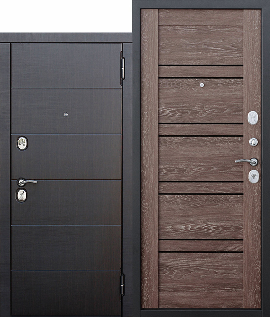 Двери завода Феррони: 10,5 см Чикаго Царга дуб шале корица с МДФ панелями в Модуль Плюс