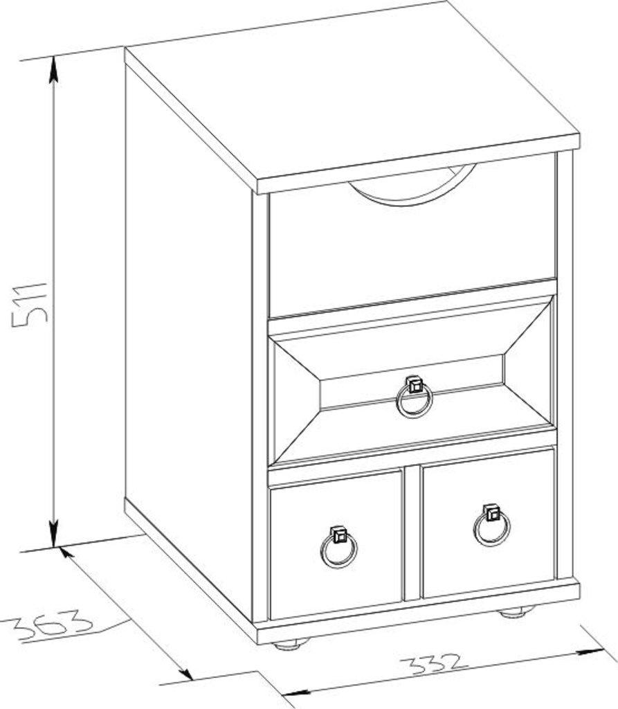 Прикроватные тумбочки: Тумба прикроватная Марсель 42 в Стильная мебель
