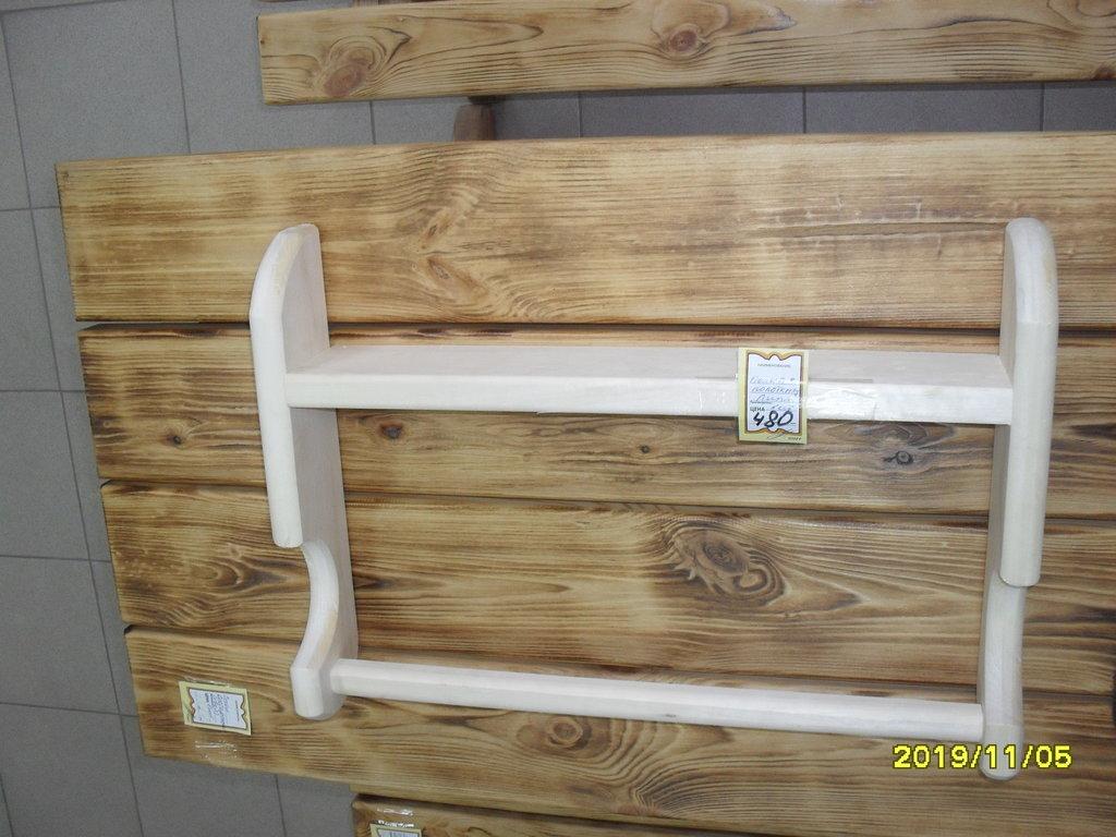 Вешалки и полки для одежды: Полка-вешалка для шампуня и полотенец ЛИПА в Погонаж