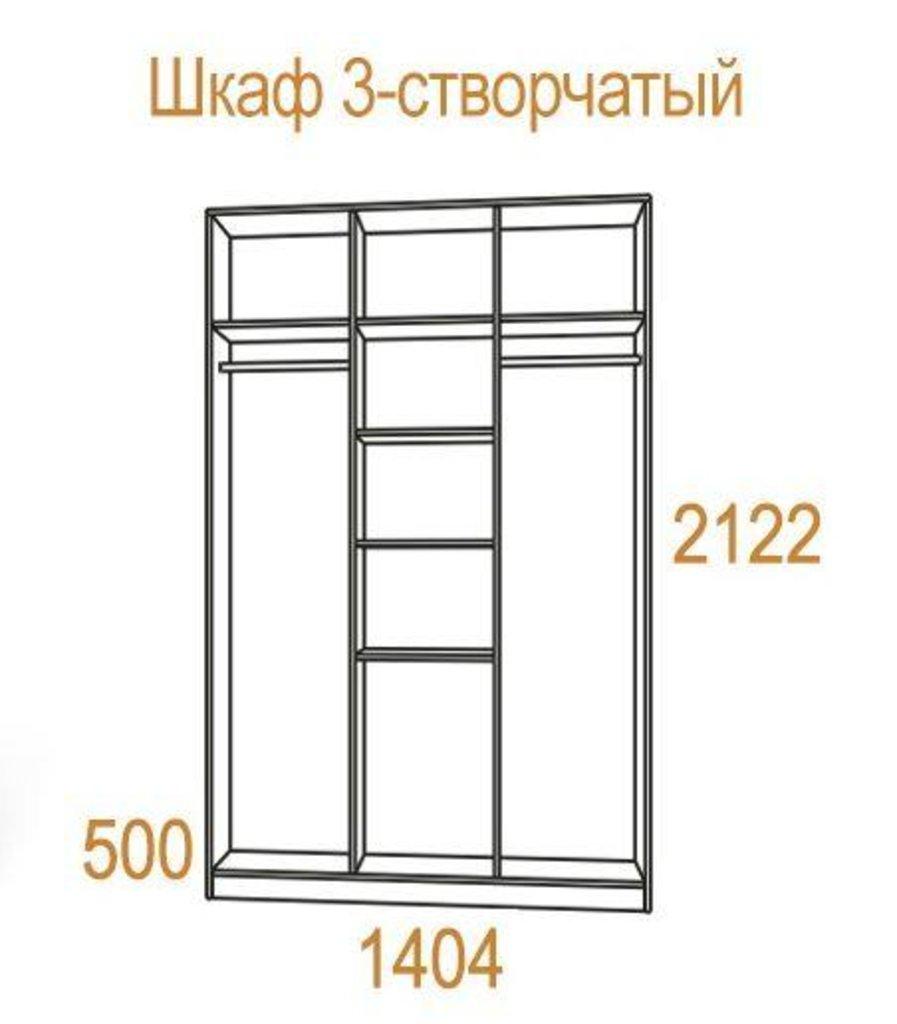 Шкафы для спальни: Шкаф 3-х створчатый Комфорт-2 в Стильная мебель