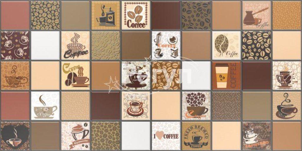 Панели ПВХ: Мозаика Кофе с молоком коричневый в Мир Потолков