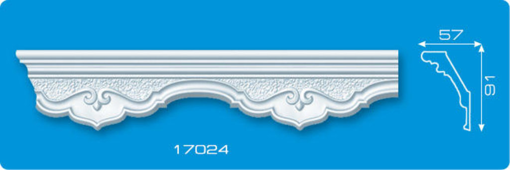 Плинтуса потолочные: Плинтус потолочный ФОРМАТ 17024 инжекционный длина 1,3м, широкий в Мир Потолков