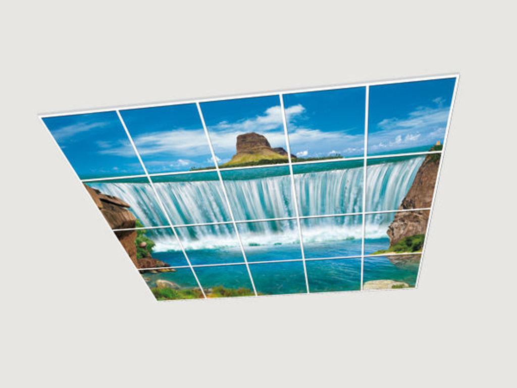 Витражные (стеклянные) потолки: Серия «Природа» в Мир Потолков