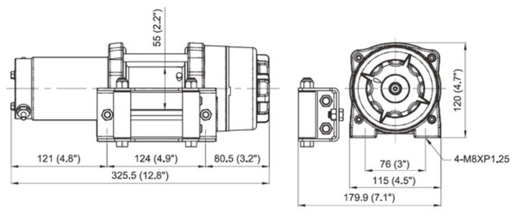 Дополнительное оборудование для квадроциклов: ЛЕБЕДКА ATV/UTV COMEUP CUB 3 12V (EAC) PN 123565 в Базис72