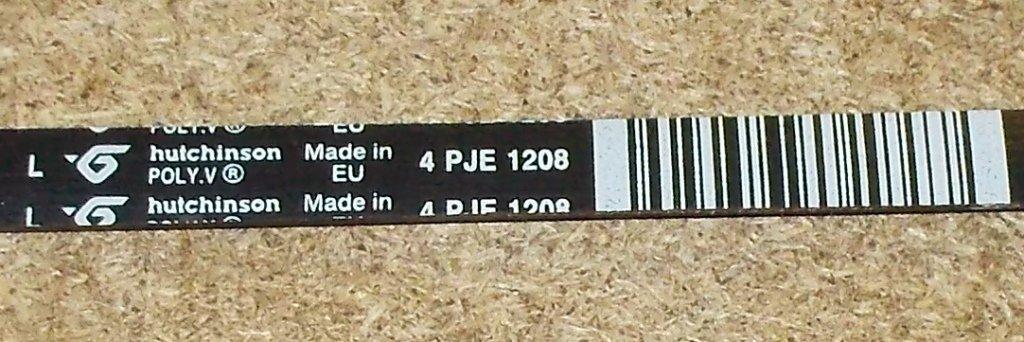 Ремни привода барабана: Ремень для стиральной машины 1208 J4 'hatchinson', зам. L193233, BLJ410AR в АНС ПРОЕКТ, ООО, Сервисный центр