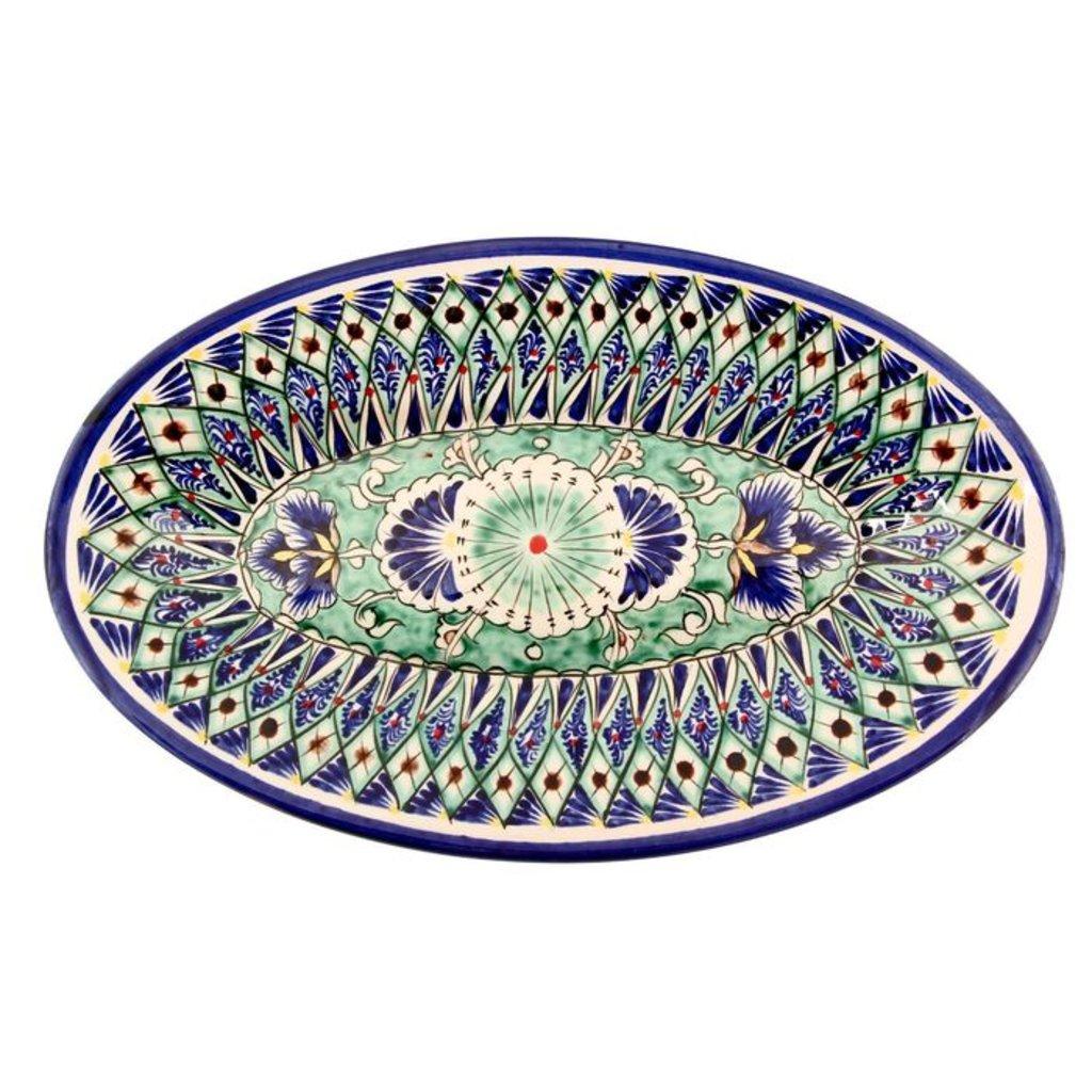 Мангалы. Казаны. Узбекская и турецкая посуда: Блюдо овальное «Риштон» в Сельский магазин