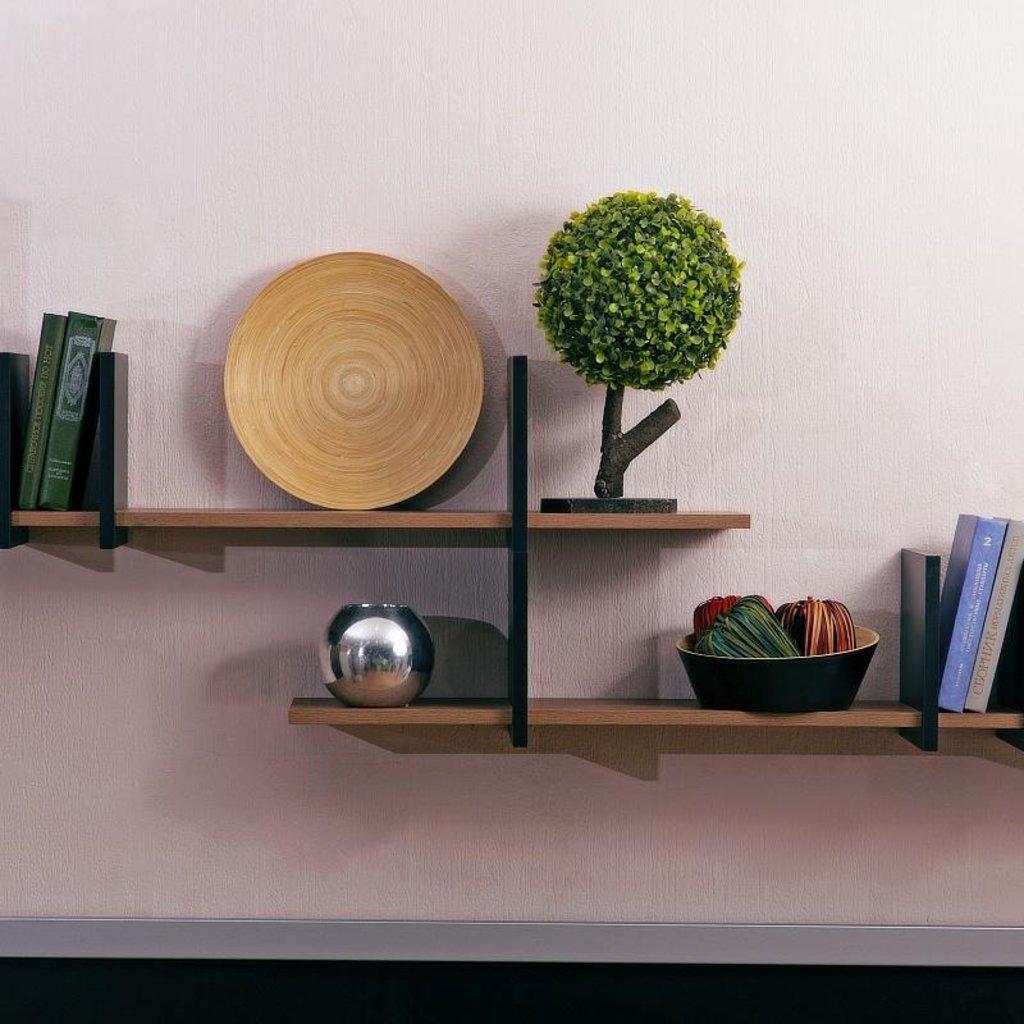 Книжные шкафы и полки: Полка навесная Nature 18 в Стильная мебель