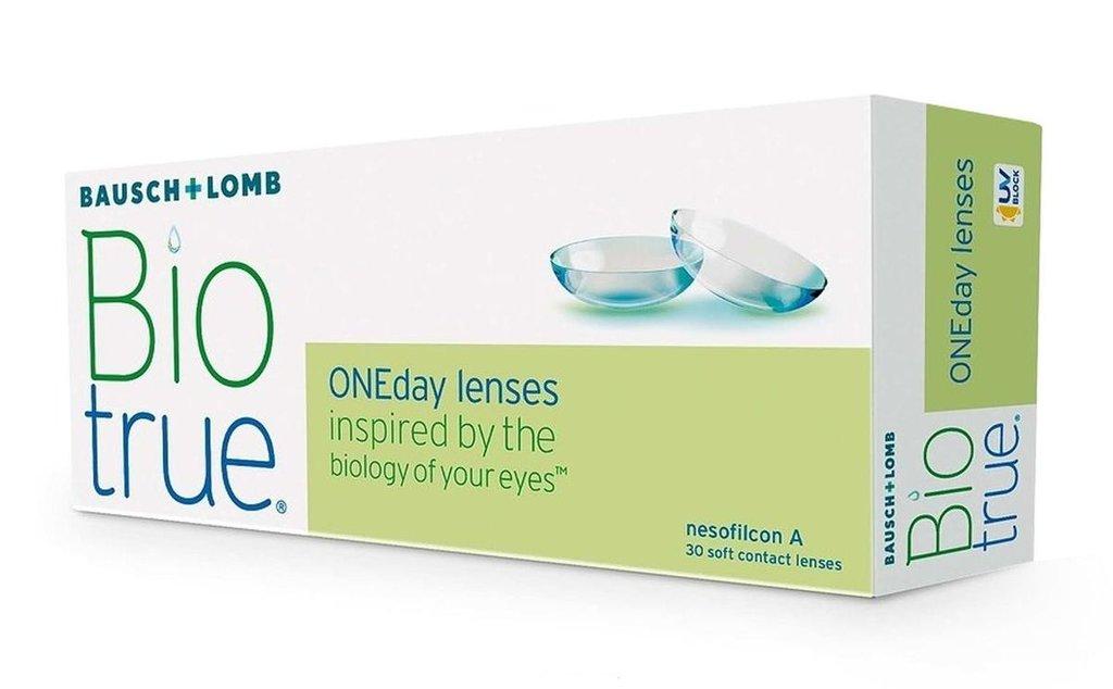 Контактные линзы: Контактные линзы Biotrue ONEday (30 шт / 8.6) Bausch & Lomb в Лорнет