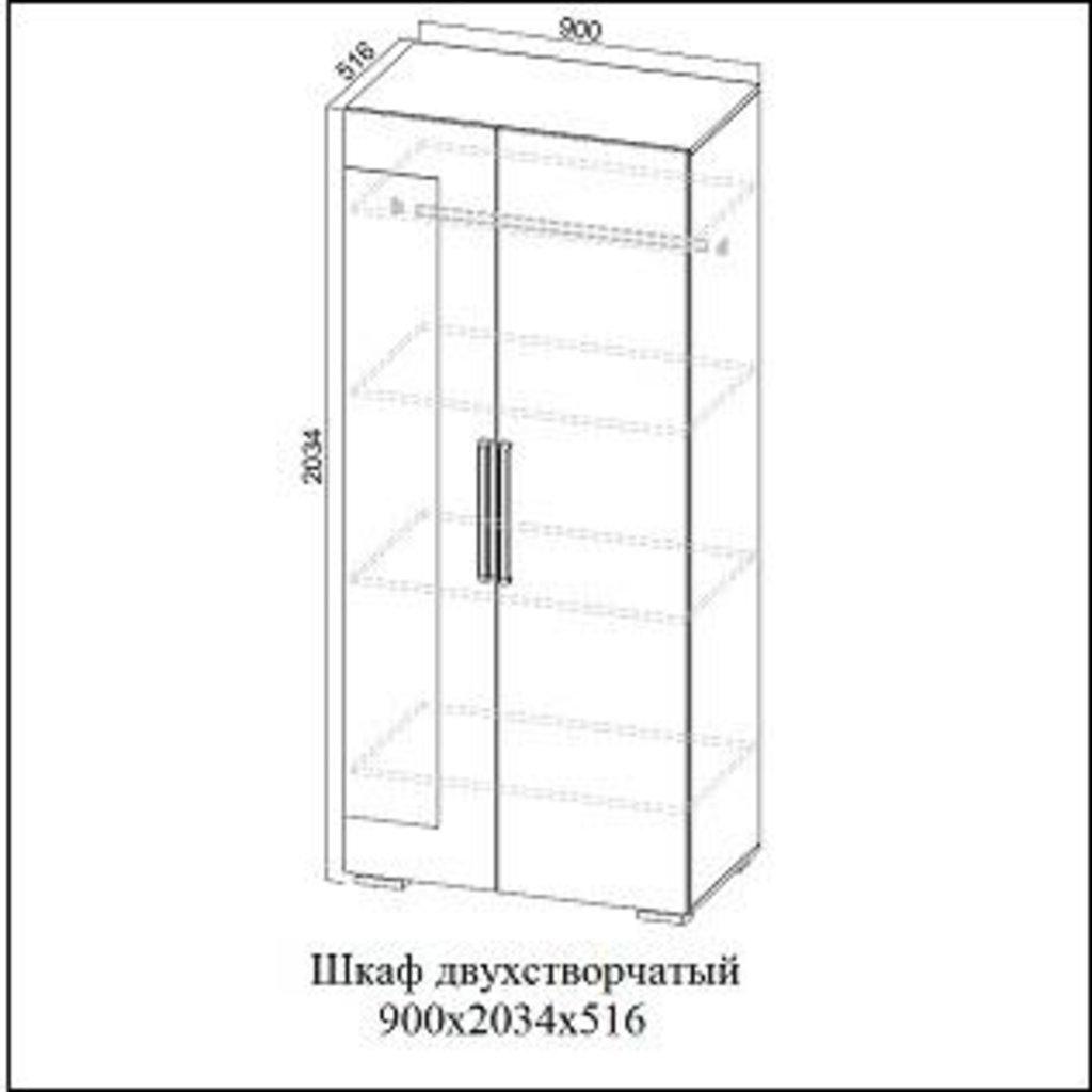 Мебель для спальни Лагуна-2: Шкаф двухстворчатый Лагуна-2 в Диван Плюс