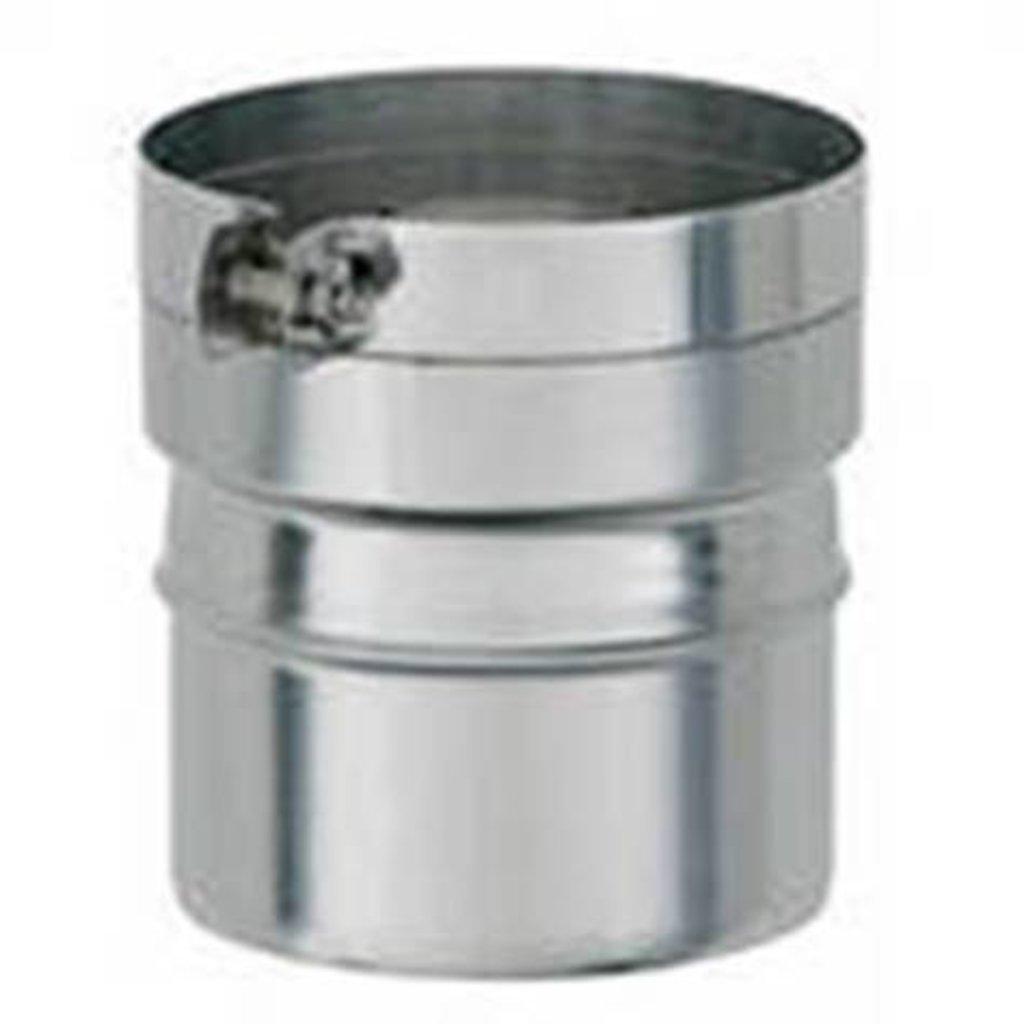 Печи и дымоходы: Переход Феррум нержавеющий (430/0,8 мм) ф120М-115П в Погонаж