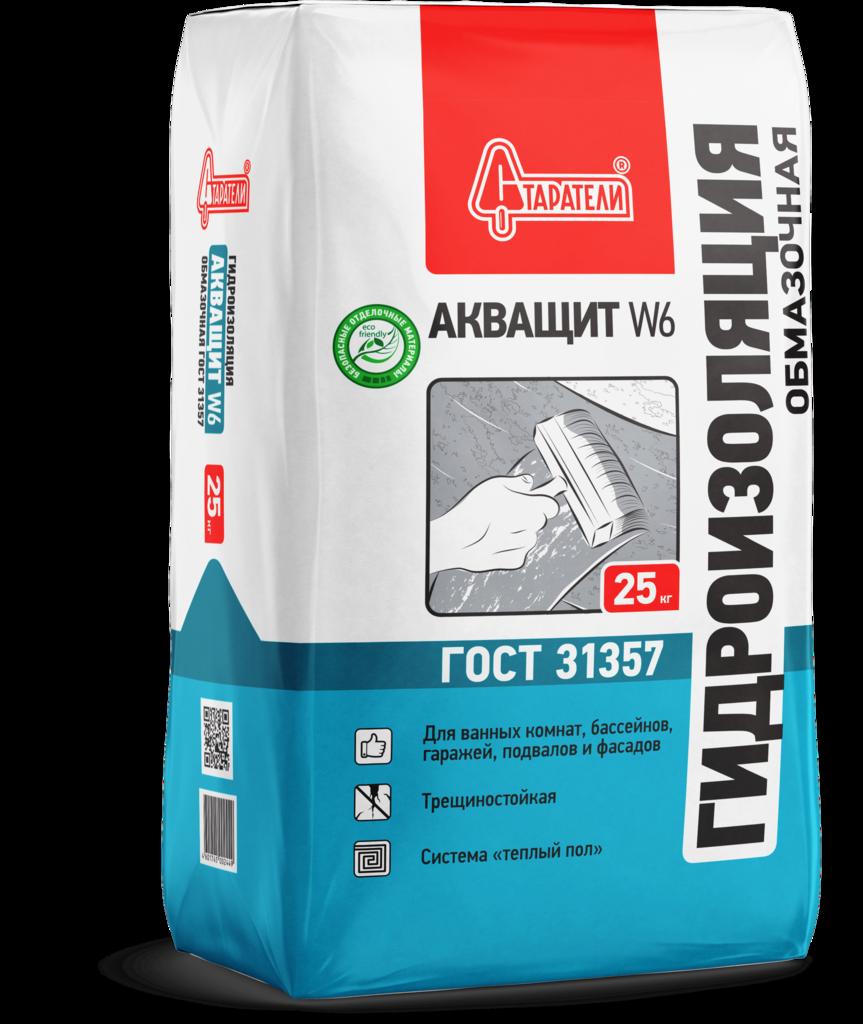 Обмазочные гидроизоляционные материалы: Гидроизоляция обмазочная Старатели Акващит W6 25 кг в АНЧАР,  строительные материалы