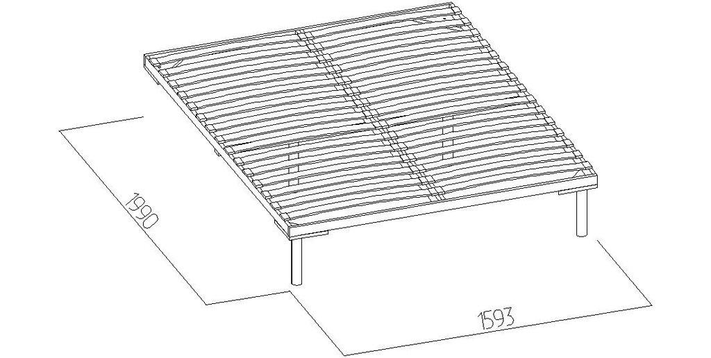Кровати: Кровать Люкс Бриз 37 (1600, орт. осн. дерево) в Стильная мебель