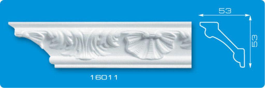 Плинтуса потолочные: Плинтус потолочный ФОРМАТ 16011 инжекционный длина 1,3м, средний в Мир Потолков