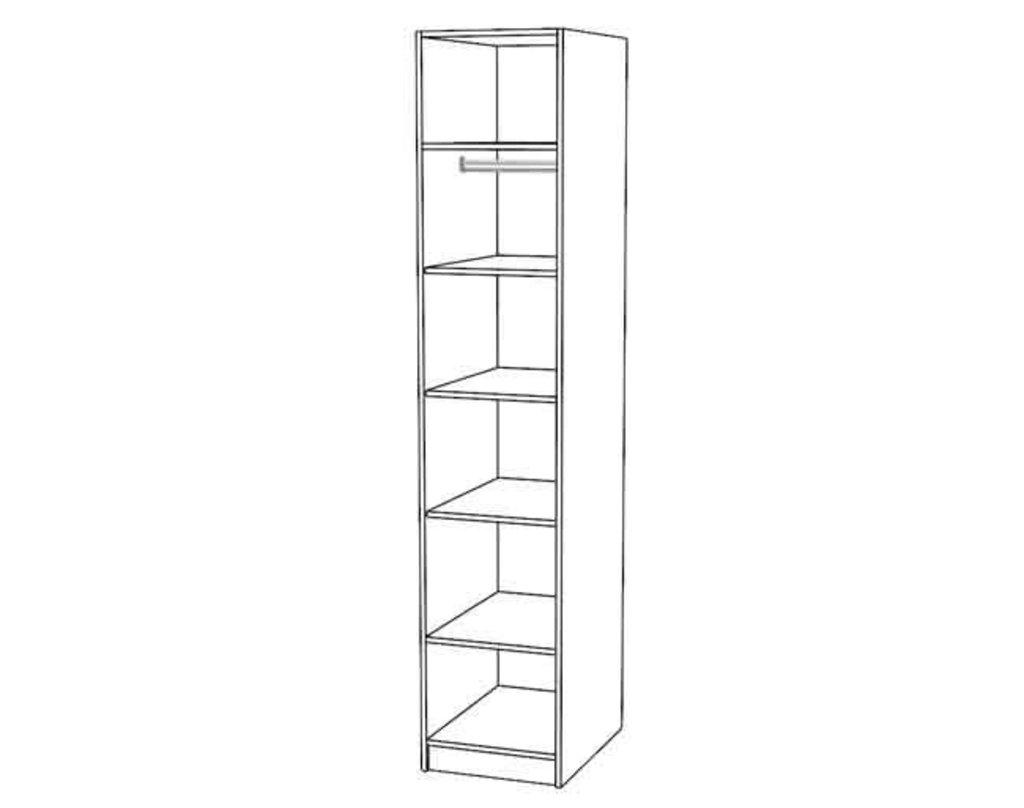 Шкафы для одежды и белья: Шкаф для белья Диана в Стильная мебель