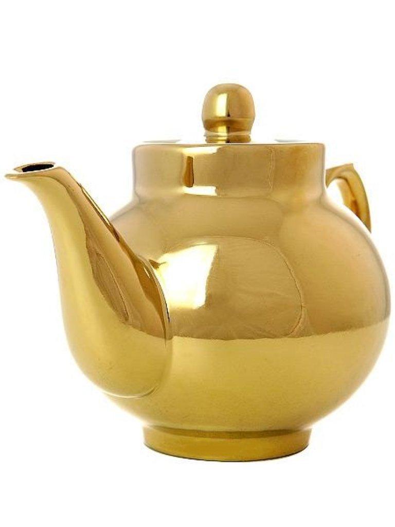 """Самовары: Чайник заварочный керамический """"под золото"""" для самовара в Сельский магазин"""