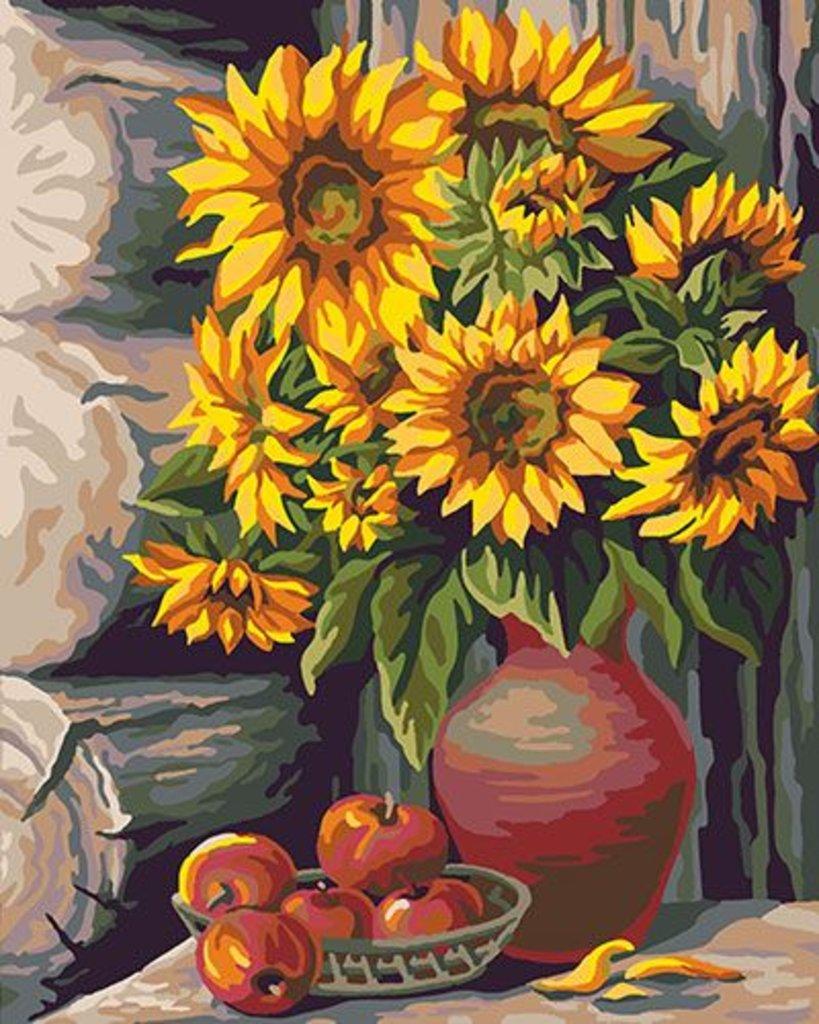 Картины по номерам: Картина по номерам Paintboy 40*50 КА00011 Букет подсолнухов в Шедевр, художественный салон