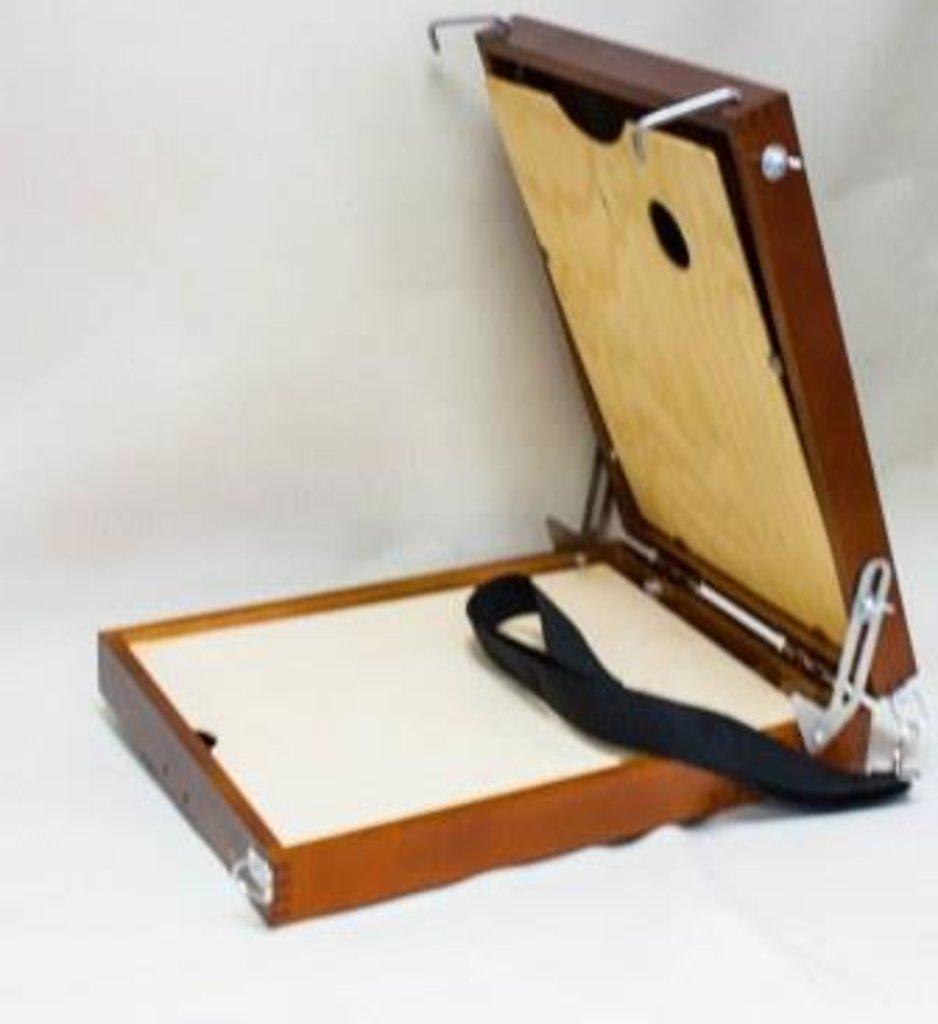 Этюдники, ящики для пленера: Этюдный ящик без ножек 15 В 21 (береза) 250 x 350 x 85 мм вес - 1970 гр в Шедевр, художественный салон