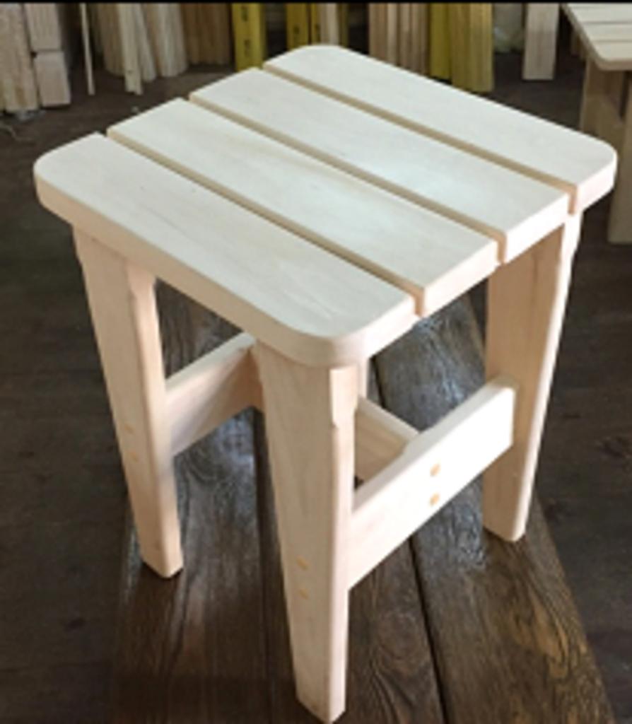 Мебель для саун и бань: Табурет (полог ЛИПА) в Погонаж