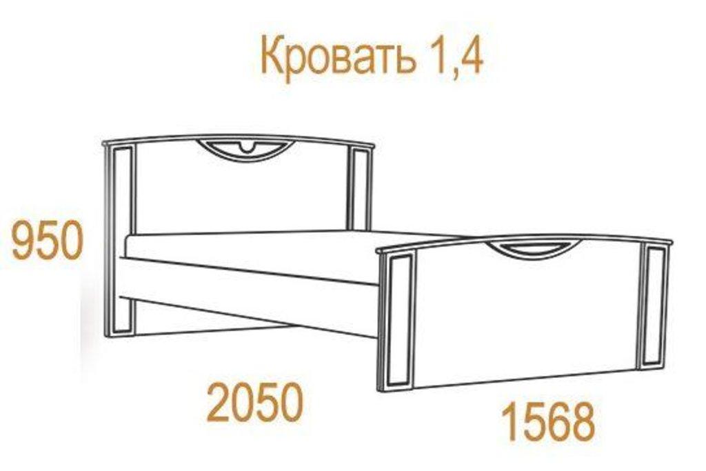 Кровати: Кровать Комфорт-2 (1400, орт. осн. металл) в Стильная мебель