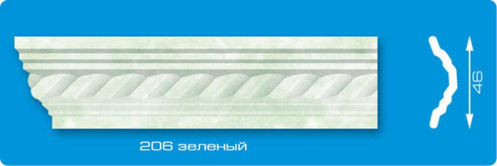 Плинтуса потолочные: Плинтус потолочный ЛАГОМ Ламинированный 206 зеленый экструзионный длина 2м в Мир Потолков