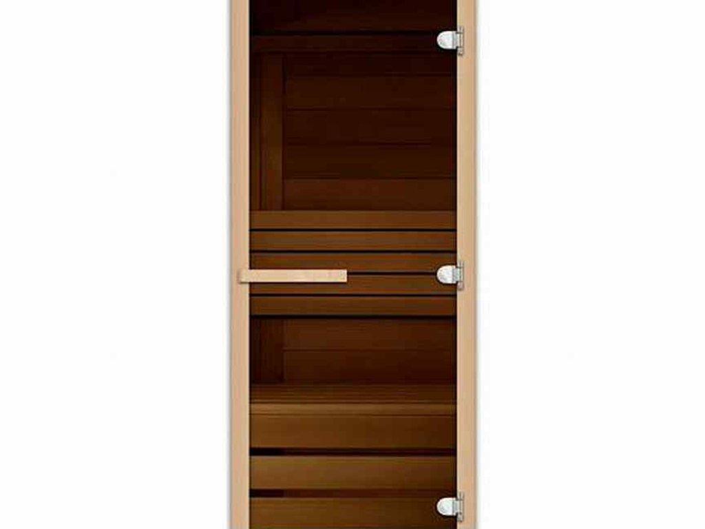Двери для саун и бань: Дверь 700*1900 мм банная с каленным стеклом 8 мм (цвет бронза) в Погонаж