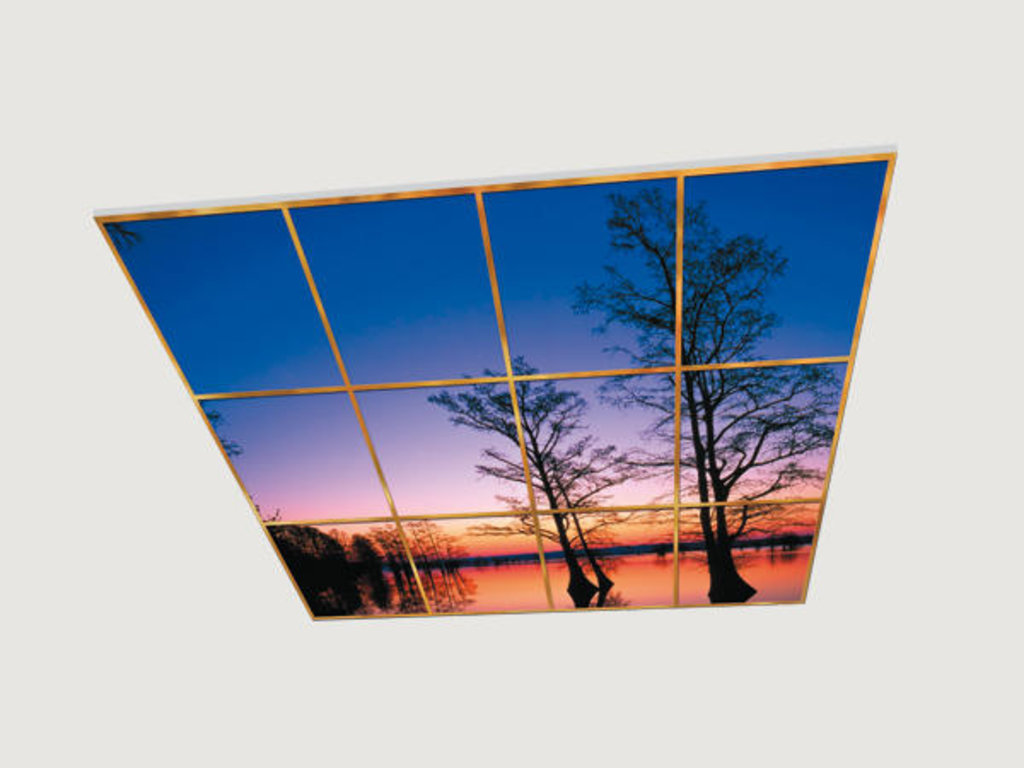 Витражные (стеклянные) потолки: Серия «Закат» в Мир Потолков