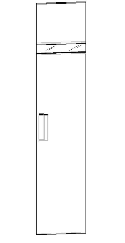Шкафы для одежды и белья: Шкаф для белья 1 правый Hyper в Стильная мебель