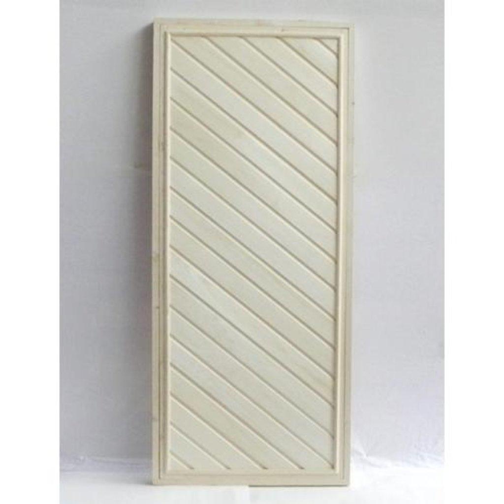 Двери для саун и бань: Дверь 700*1900 мм банная глухая с петлями (вагонка ЛИПА сорт Экстра) в Погонаж