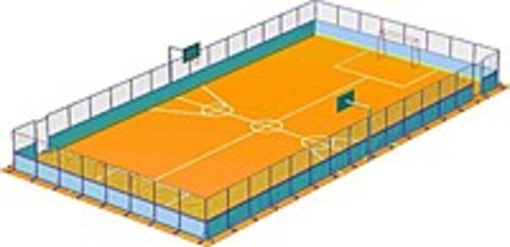 Универсальная спортивная площадка (прямоугольная): Универсальная спортивная площадка 20*40 м. в Спарта